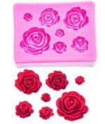 Mould - Rose (7 pcs)